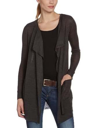 Vila Clothes - Gilet - Femme - Gris (Dark Grey Melange) - FR : 36 (Taille fabricant : XS)