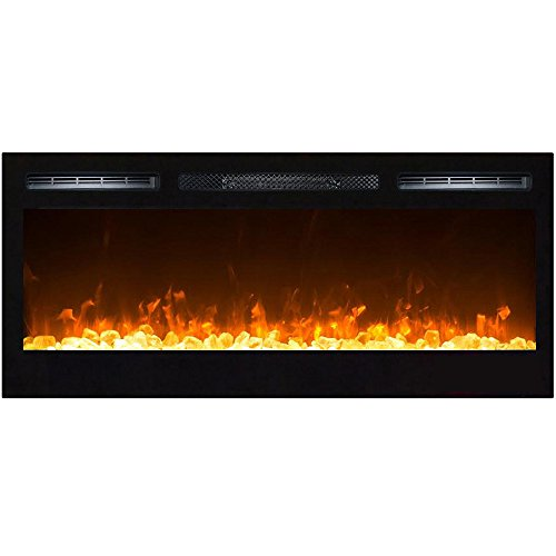 Gibson Living GL2036CC Madison 36 Inch Crystal Recessed Go under Mounted Electric Fireplace