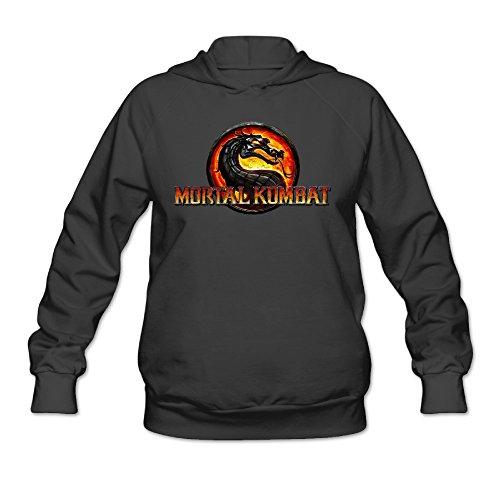 POOZ Women's Mortal Kombat Dragon Hoodie Black Size XXL