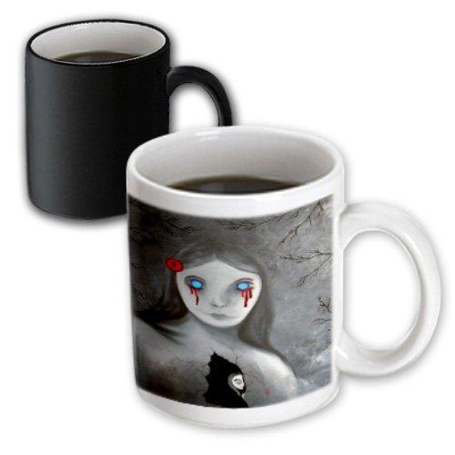 Dooni Designs Halloween Designs - Bleeding Eyes Goth Gothic Halloween Design - 11Oz Magic Transforming Mug (Mug_159485_3)