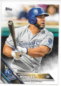Kendrys Morales 2016 Topps Kansas City Royals Card #70