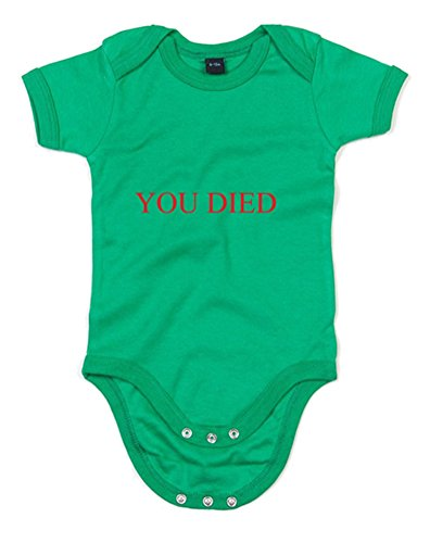 You Died, Printed Baby Grow - Kelly Green/Red 0-3 Months front-1007268