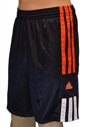 Adidas Men's Basketball Shorts-Dark Navy/Orange/White-2XL