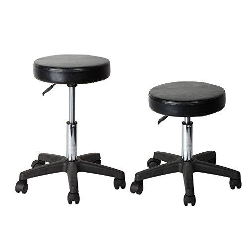Flexzion rolling swivel stool pneumatic work chair for 360 degrees salon