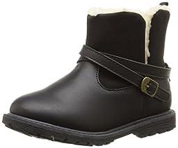OshKosh B\'Gosh Tess G Moto Boot (Toddler/Little Kid), Black, 7 M US Toddler
