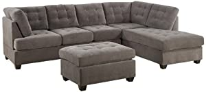 Bobkona Michelson 3-Piece Reversible Sectional