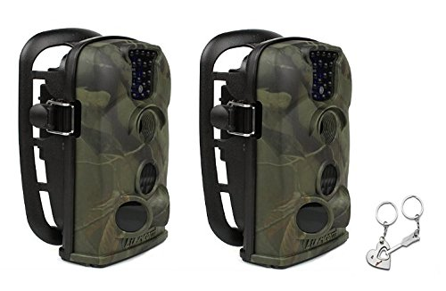 Bulk Buy 2 x 12mp Low Glow LTL Acorn 5210a Stealth Trail Scouting Deer Hunting Game Spy Wildlife Camouflage Infrared Digital Video Camera 940nm Blue Led with Blueskysea Free Gift keychain *1 ltl acorn 5210a scouting hunting camera photo traps ir wildlife trail surveillance 940nm low glow 12mp