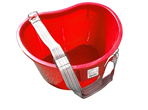 zenport-ag430r-plastic-kidney-shaped-picking-pail-bucket-with-strap-22-quart-red
