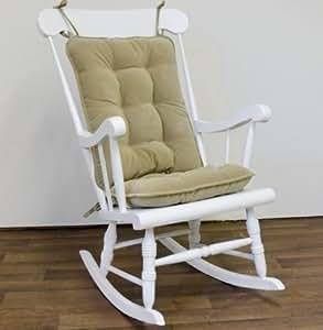greendale home fashions 5174 khaki standard coussin rocking chair set cherokee solid kaki. Black Bedroom Furniture Sets. Home Design Ideas