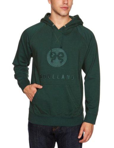 Soulland Ribbon Emblem Hooded Men's Sweatshirt Green Medium