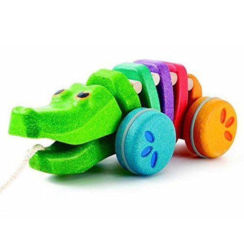 PlanToys 1416 Rainbow Alligator Baby Toy