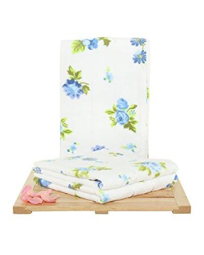 Maisonette Buse 3-Piece Hand Towel Set, Blue