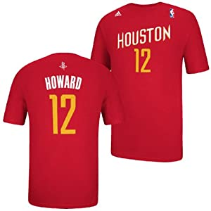Houston Rockets Adidas NBA Dwight Howard #12 Name And Number The Go To T-Shirt 2 by adidas