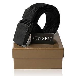 JINSELF (ジンセルフ) グレードアップ版 S級永久ベルト 高品質 純正ナイロン100% 正規YKKバックル 幅38mm メンズ
