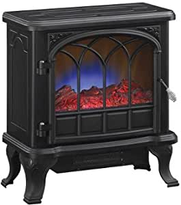 Duraflame 400 Sq Ft 1500w Electric Stove Fireplace Heater W Flame Effect Black