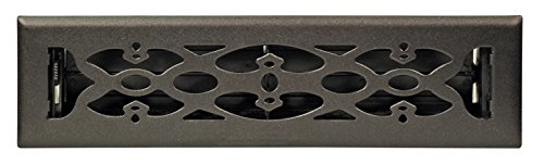 Accord AMFRBLV212 Floor Register with Victorian Design, 2-Inch x 12-Inch(Duct Opening Measurements), Matte Black (12x2 Register Box compare prices)