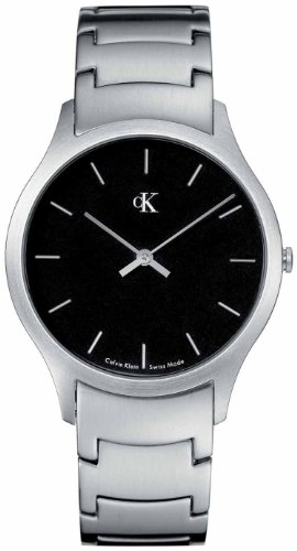Calvin Klein Quartz, Stainless Steel Classic Bracelet with Black Dial - Men's Watch K2611104