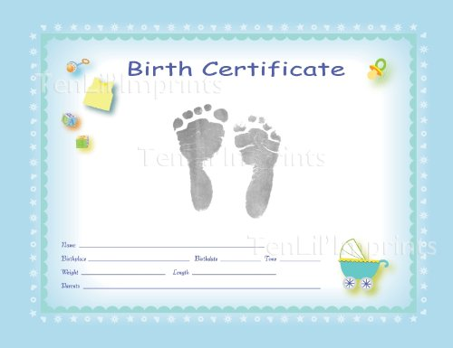 boy birth certificate template tenlil imprints birth certificate kit blue black