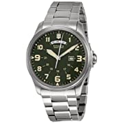 Victorinox Swiss Army Mens 241291 Infantry Green Dial Watch