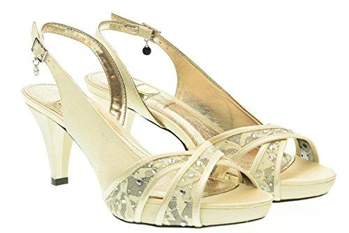 O6 MILANO donna sandali SA0331 CHAMPAGNE 41 Champagne