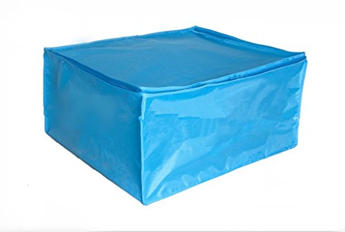 GYMNLJY Deposito sacca grande Oxford panno trapunte abbigliamento accomodante borsa colore resistente all'umido-proof(pack of 2) . blue