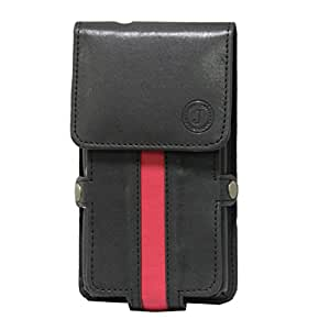 Jo Jo A6 Nillofer Series Leather Pouch Holster Case For Lava Mobiles Icon Black Red