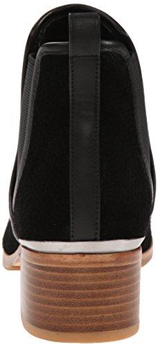 Donald J Pliner Women's Diaz Chelsea Boot, Black Oily Suede, 9 M US