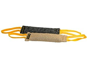 Dean and Tyler Tug Bundle of 2 Medium Tugs, 1 Jute and 1 French Linen, Tug Size: 12-Inch by 4-Inch