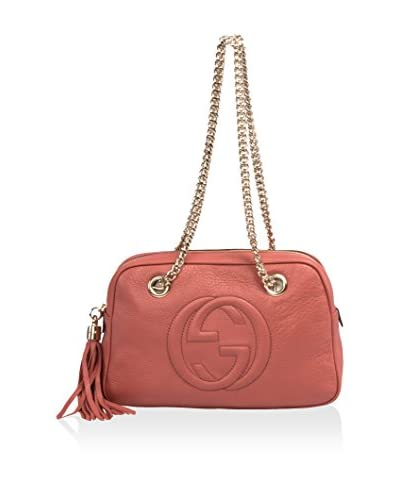Gucci Women's Soho Small Leather Shoulder Chain Bag, Pink