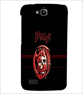 PrintDhaba Danger D-4262 Back Case Cover for HUAWEI HONOR HOLLY (Multi-Coloured)
