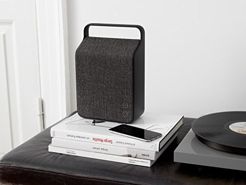 Vifa Oslo Compact Rechargeable Hi-Resolution Bluetooth Portable Speaker- Anthracite Grey