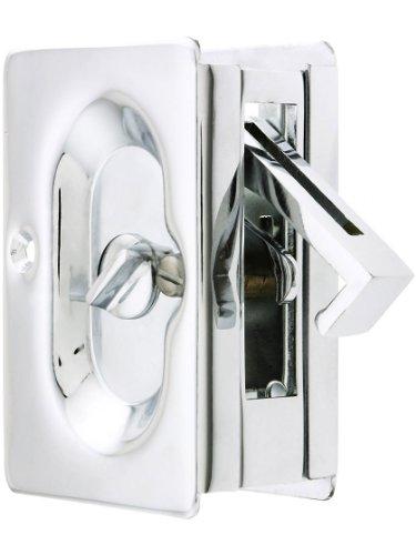 Emtek Pocket Door Privacy Lock Set, Polished Chrome (Chrome Pocket Door Lock compare prices)