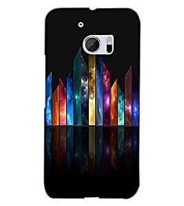 HTC ONE M10 COLORFUL BARS Back Cover by PRINTSWAG