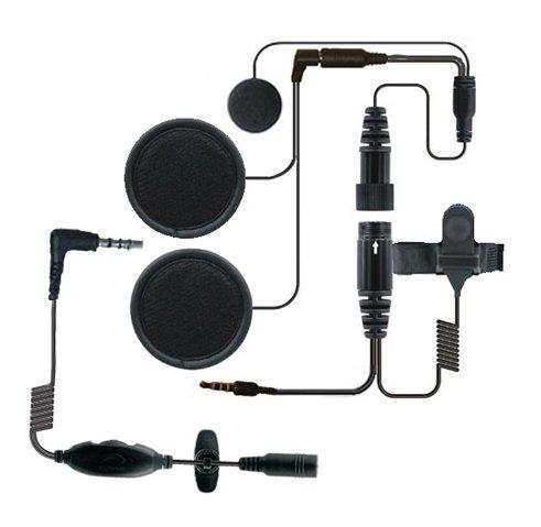 Shark Motorcycle Audio In-Helmet Headset Kit with Microphone for Motorcycle/Skiing, Black