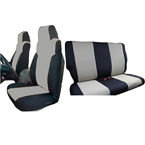 INNOCESSORIES Jeep Wrangler Neoprene Seat Covers Combo Set fit for 2003-2006 Jeep Wrangler Tj Tan/Black (Yj Bucket Seats compare prices)