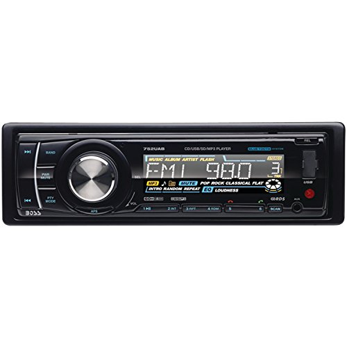 Boss Audio 752Uab In-Dash Single-Din Detachable Cd/Usb/Sd/Mp3 Player Receiver Bluetooth Streaming Bluetooth Hands-Free With Remote