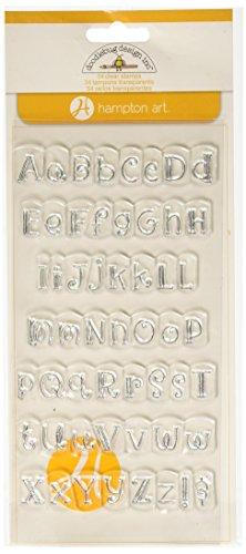 Hampton Art Doodle Bug Curly Alphabet Rubber Stamp - 1