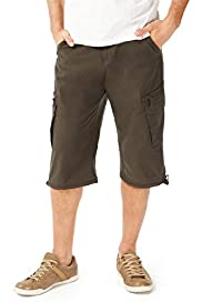 Cotton Rich 3/4 Trekking Shorts with Belt