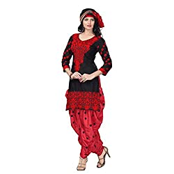 Trendz Apparels Black Cotton Patiala Salwar Suit