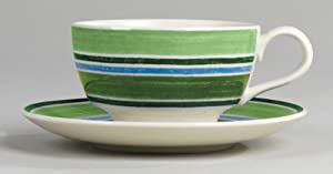 Johnson Bros. Woodland Stripe Cups & Saucers