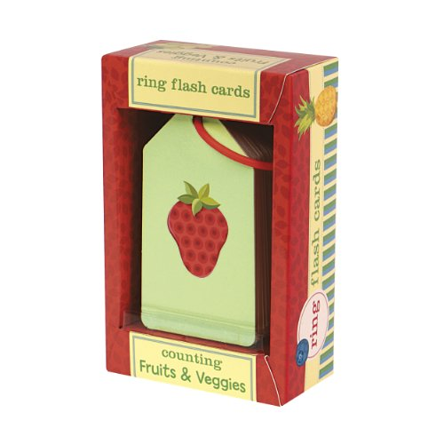 Mudpuppy Counting Fruits & Veggies Ring Flash Cards