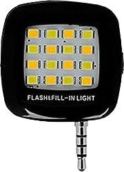Buddy 16ledselfie Selfie Flash Light White :: 3.5mm pin jack 16 LED flash light Selfie Stick