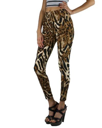 J&K Womens Leopard Print Leggings One Size Fits All