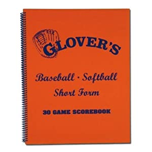 Glovers Scorebooks Short Form Baseball/Softball Scorebook (30 Games)
