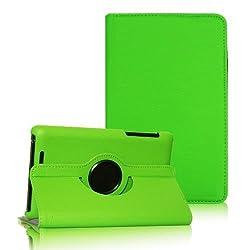 2010kharido 360 Degree Rotating Smart Leather Case Cover for Asus Google Nexus 7 1st gen 2012 Model Tablet Green