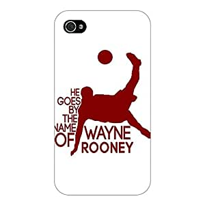 Jugaaduu Manchester United Rooney Back Cover Case For Apple iPhone 4