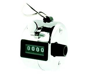 Tetra mechanischer Zähler / Handzähler / Mengenzähler aus Metall, 4-stellig, Mod. (5202 DE)