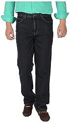 KILLER Men's Regular Fit Jeans (4112 C/F S&P_38, Black, 38)