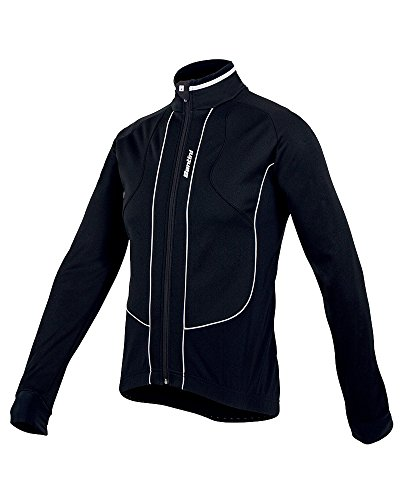 Santini Fashion - Chaqueta, talla XL, color negro