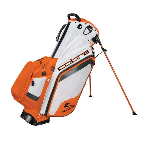 Cobra Bio Stand Bag, White/Vibrant Orange